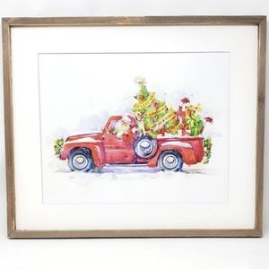 Santa & His Puppy Wall Art NEW!!!